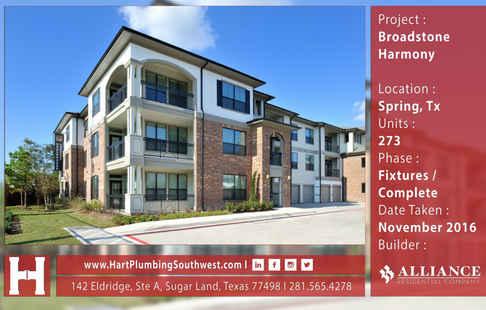Houston Multifamily Plumbing Project : Broadstone Harmony