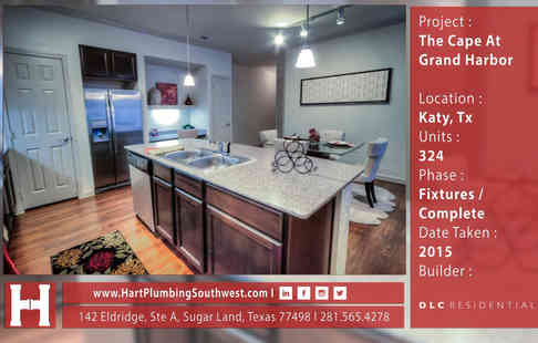 Katy Multifamily Plumbing Project : The Cape At Grand Harbor