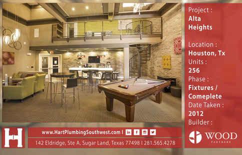 Houston Multifamily Plumbing Project - Alta Heights