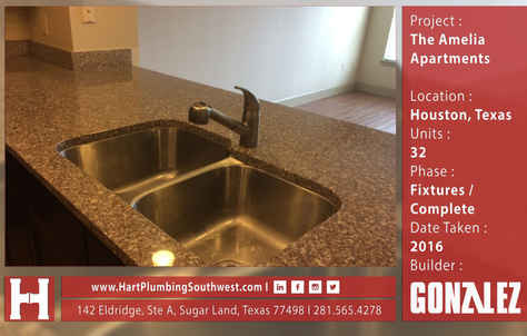 Houston Multifamily Plumbing Project : The Amelia Apartments