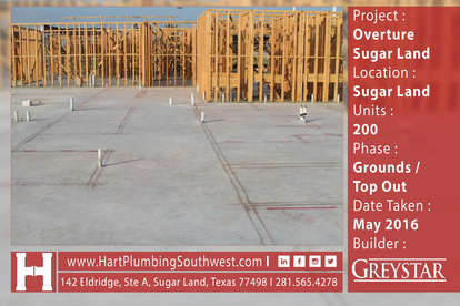 Houston Multifamily Plumbing Project : Overture Sugar Land