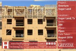 Houston Multifamily Plumbing Project : Overture Sugar Land