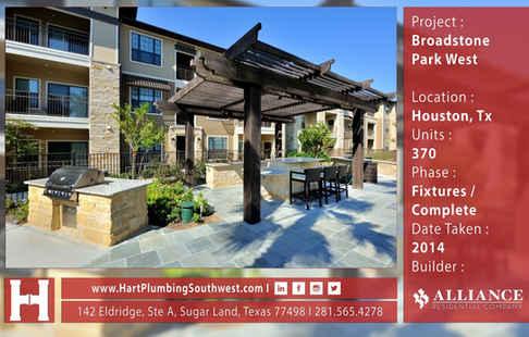 Houston Multifamily Plumbing Project : Broadstone Park West