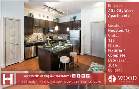 Houston Multifamily Plumbing Project : Alta City West Apartments