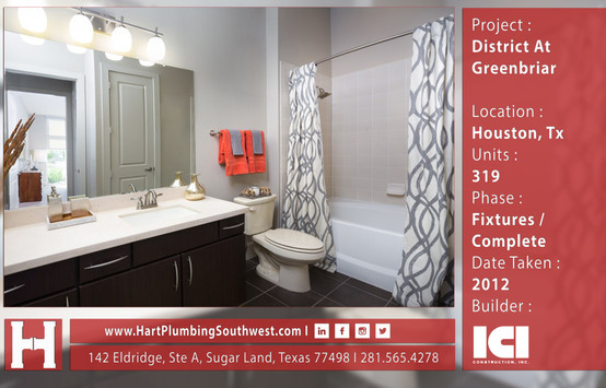 Houston Multifamily Plumbing Project : District At Greenbriar