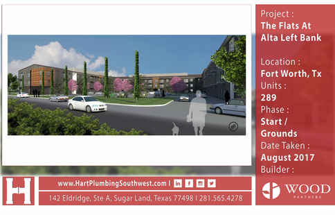 Fort Worth Multifamily Plumbing Project : The Flats At Alta Left Bank