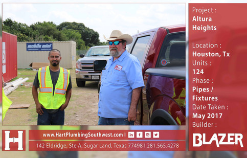 Houston Multifamily Plumbing Project : Altura Heights