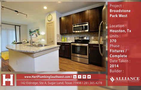 Houston Multifamily Plumbing Project : Broadstone Park Westv