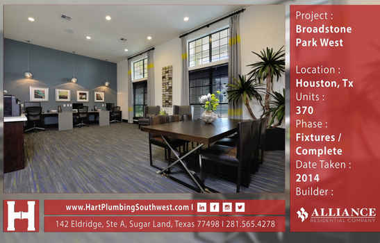 Houston Multifamily Plumbing Project : Broadstone Park West