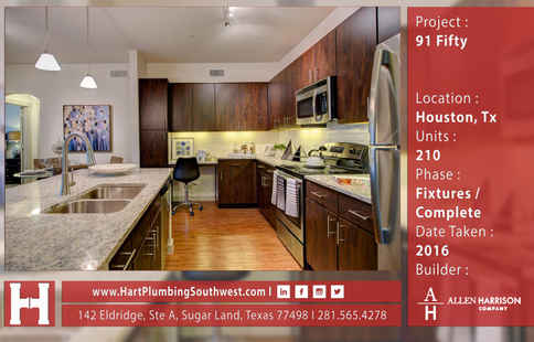 Houston Multifamily Plumbing Project : 91 Fifty