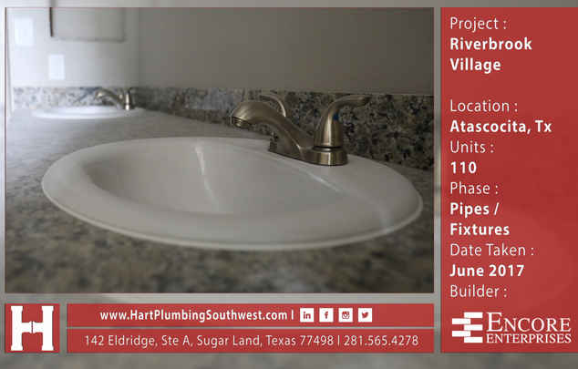 New Construction Plumbing Project : Riverbrook Village