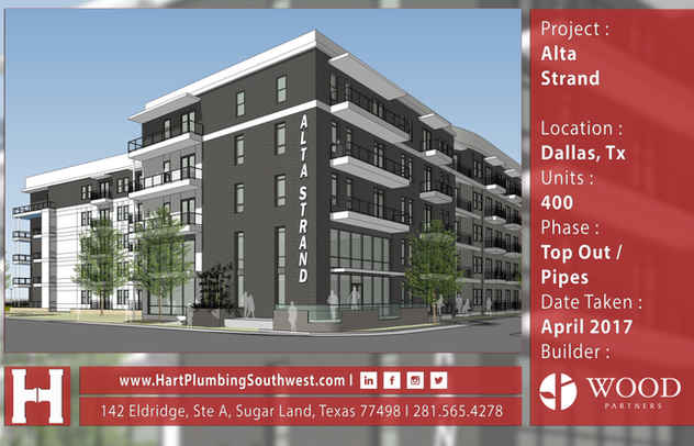 Dallas Multifamily Plumbing Project - Alta Strand