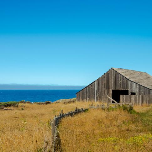Abandoned barn at Sea Ranch, California.