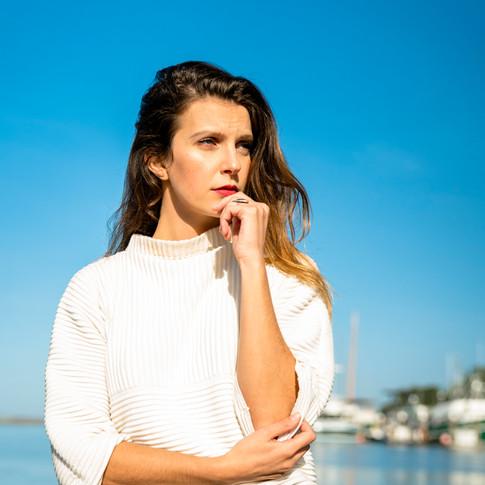 Hannah Moss at the Eureka City Harbor