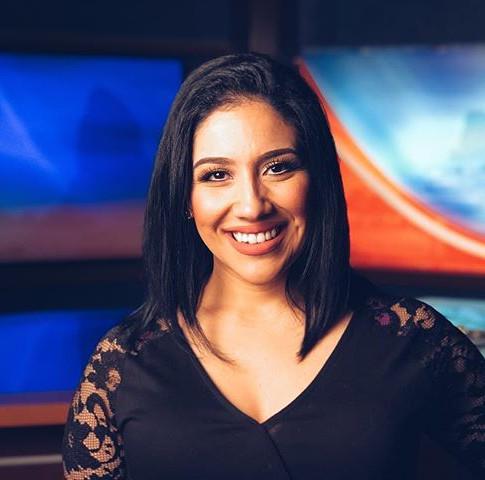 North Coast News Anchor Nazy Javid on Set