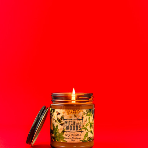 Witch in the Woods brands candle.