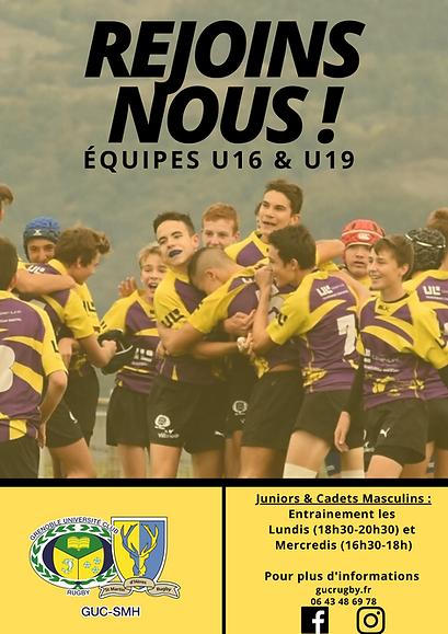 U16 U19 GUC rugby