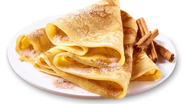 Crêpes mit Zimt und Zucker