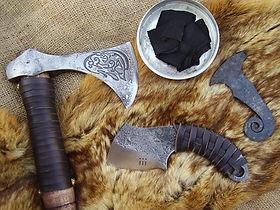 bushcraft engraved axe tomahawk survival knife firestriker char cloth