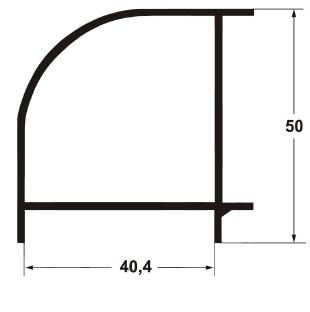 Угловой профиль 40*40 6000 мм