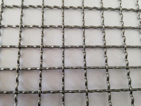 Сетка сложно-рифленая, нержавеющая, 2.5*20мм