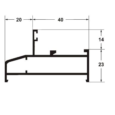 Профиль рамы широкий 6000 мм