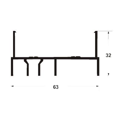 Профиль рамы боковой 6000 мм