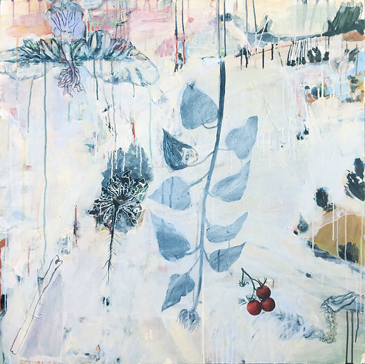 Garden/Fukishima abstracted contemporary painting