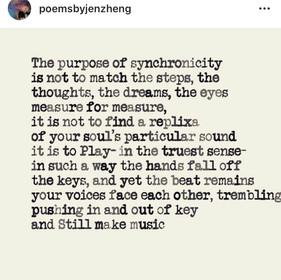 Synchonicity @poemsbyJenZheng