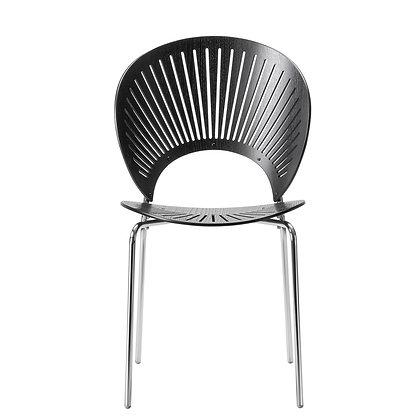 "Fredericia ""3398 TRINIDAD chair"" Black Ash chrome"