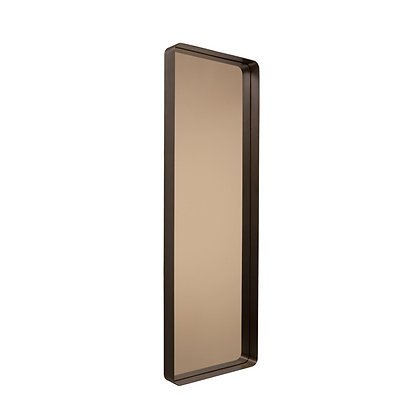 "ClassiCon ""Cypris Mirror"" rectangular burnished brass/smoked glass"