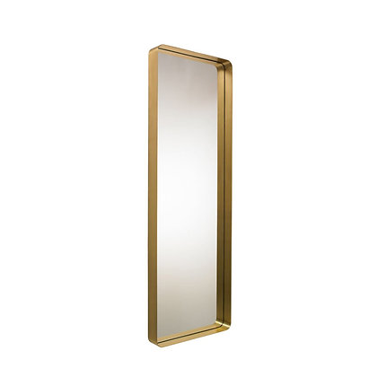 "ClassiCon ""Cypris Mirror"" rectangular natural brass/crystal glass"