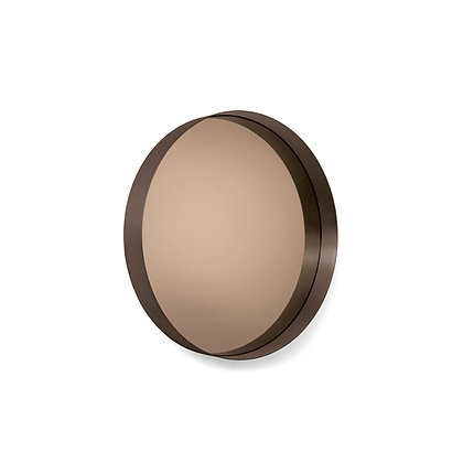 "ClassiCon ""Cypris Mirror"" round burnished brass/smoked glass"