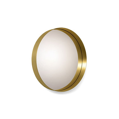 "ClassiCon ""Cypris Mirror"" round natural brass/crystal glass"