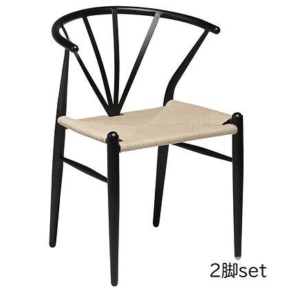 """DAN FORM """"DELTA Chair"""" Black lacquer legs (2脚set)"""
