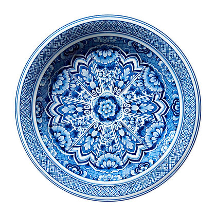 "moooi ラグ ""Delft Blue Plate"""