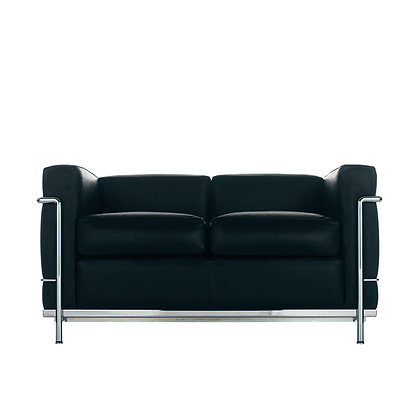"Cassina ""LC2"" 2 seater sofa Feather padding"