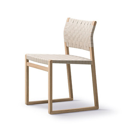 "Fredericia ""BM61 Chair Linen Webbing"" Oak oiled"