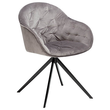"DAN FORM ""CRAY Chair"" Alu velvet w/black legs"