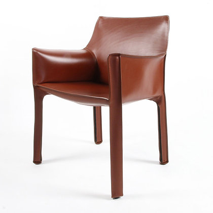 """Cassina """"413 CAB"""" Arm Chair Russian red"""