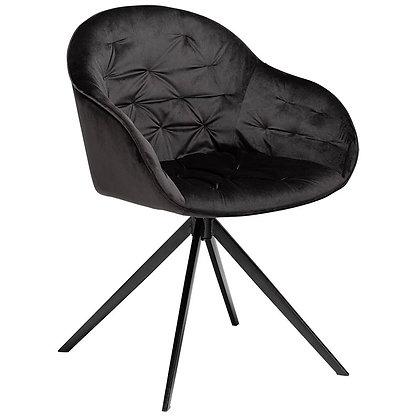 """DAN FORM """"CRAY Chair"""" Meteorite black velvet w/black legs"""