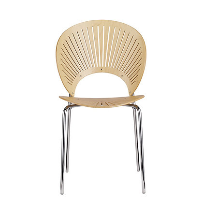 "Fredericia ""3398 TRINIDAD chair"" Beech Lacquered chrome"