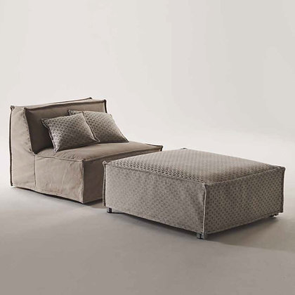 """Milano Bedding (by Kover Srl) """"TOMMY POUF"""" Ottoman Bed"""