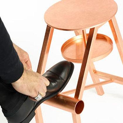 "OPINION CIATTI ""Shoe stool"" copper leaf"