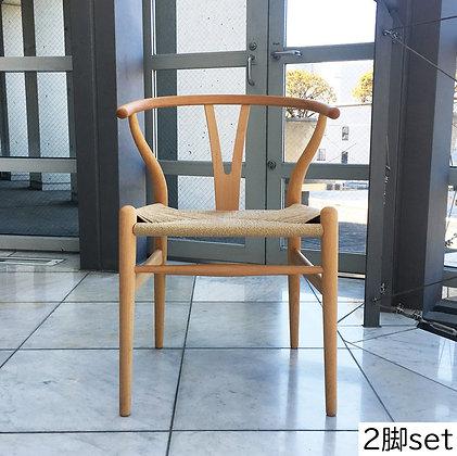 """【約20%OFF】Carl Hansen & Søn """"CH24"""" Wishbone Chair Beech Oil (2脚set)【新品在庫】"""