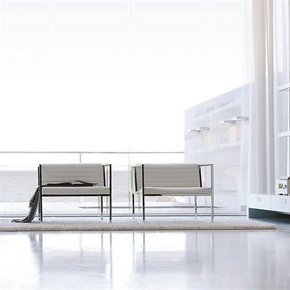 "ALIVAR ""Atlanta"" arm chair E1535 chromed"