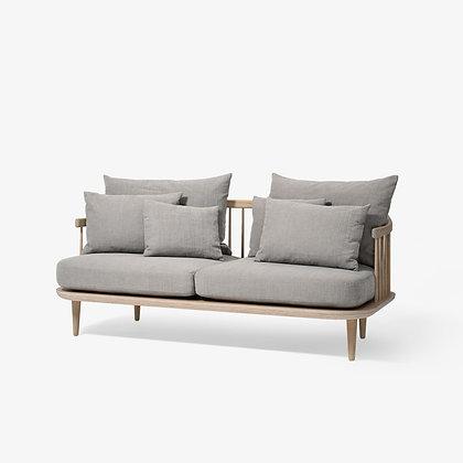 "&Tradition ""Fly SC2 sofa"" White Oiled Oak"