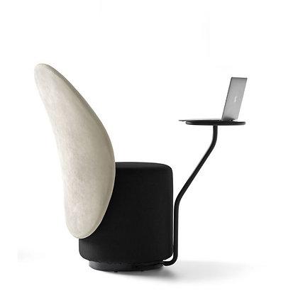"""OPINION CIATTI """"Loomi"""" white/black+black table"""