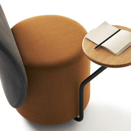 "OPINION CIATTI ""Loomi"" black/rust+oak table"