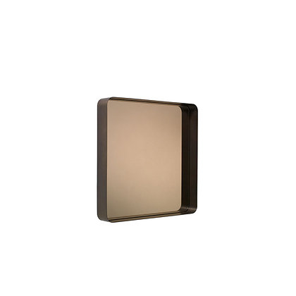 """ClassiCon """"Cypris Mirror"""" square burnished brass/smoked glass"""